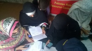 LHWs during Monthly Coordinatio Meeting at PRPRC Nowshera
