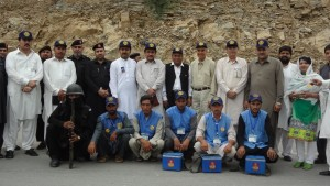 4. National Chair Aziz Memon with Polio Vaccinators and FC tean