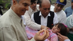 5. Administrating Polio drops at PTP Bhagiari